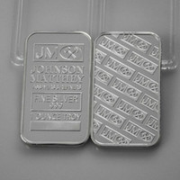 banks open - 2 Bank Super JM Johnson Matthey Morgan OZ silver plated American coin bar