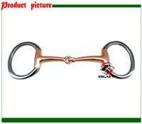 Wholesale SS eggbutt bit copper solid jointed mouth Horse product horse racing product BT0312US