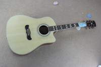 Wholesale Top quality Solid spruce Top J EC Acoustic Guitar natural wooden acoustic guitar