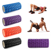 Wholesale Yoga Foam Roller Exercise Trigger Point GYM Pilates Texture Physio Self Muscle Massage Fitness Training High Density x14CM PVC EVA