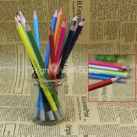 Wholesale 1 Set Wood Colored Drawing Painting Pencil Stationery For Kids Children New