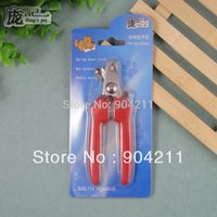 Wholesale New Pet dog cat nail clippers straight handle bent handle cm dog nail clipper free gifts