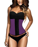 corset xs - Best selling Oversized XS XXXL Women Waist Training Corsets Body Shape Corpete Corselet Steel Bone Latex Under Bust Corset B6190