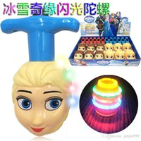 Wholesale 2014 explosion models Frozen Colorful lights music Gyro electric toy gyroscope gyro toys Christmas Gifts K105F1