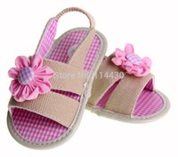 baby shop direct - piece drop shopping Direct From Factory cotton flowers baby Girls sandals shoes first walkers clogs soft sole mo119