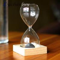 Wholesale Classic European Style Magnet Hourglass Sand Timer Clock Glass Home Desk Decor