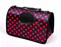 Wholesale Portable Pet Life Airline Approved Portable Bag Fashion Design PVC Oxford Dots Printing Dog Carrier Bag OEM Accepted