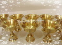 Wholesale 6 brass butter lamps Tantric