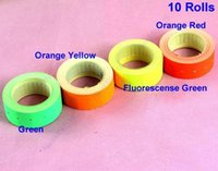 Wholesale Rolls Fluorescent Color Price Labels Paper Fr MX Price Gun Labeller