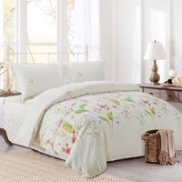 Wholesale Fiber Bedding Sets soft and comfortable anti static and pilling aqua Sheet Quilt cover Pillow Case bed set Queen Size King Size