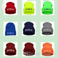 bad hair dye - LJJG106 Embroidered Fashion Hiphop Beanie Unisex Bad Hair Day Gorro Headgear Cap Colors Available
