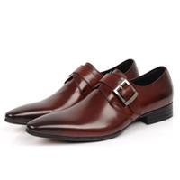 Men leather shoes italian men - New Fashion Designer Brand Italian Formal Oxford Genuine Leather Men s Dress Skin Sneakers Shoes vgbu7