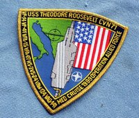 allied machine - Theodore Roosevelt aircraft carrier CVN CVW Allied forces action commemorative badge