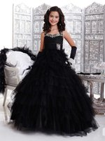 Cheap Layered Ball Gowns Best Black Pageant Dress