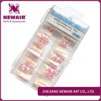 airbrush tool box - Nails Tools False Nails New Arrival False French Airbrush Tips UV Gel Fake Tips Designer Half Cover Nail Art Tips box
