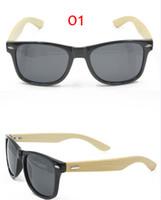 wood planks - 10pcs Fashion Plank Frame Wood Sunglasses UV400 Bamboo Style Eyewear Unisex Vintage Wooden Sunglass
