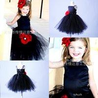 2015 nuevas llegadas Girls # 039; Vestidos del desfile Real Imagen de la vendimia Niña vestidos formales de la bola de la princesa espagueti vestido MYD1007 vestido de las muchachas de flor