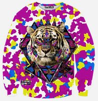 aliens clothes - 2016 hot sale fashion hoodies Beautiful D Printing Alien ET long sleeved diamond hoodies sweater mens clothing
