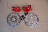 caliper disc brake - SEAGULL MTB CYCLE MOUNTAIN ROAD bike Bicycle Mechanical Disc Brake Caliper Calipers with mm G3 Rotors bolts Front Rear Set Red