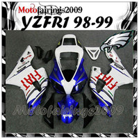 aftermarket s - white blue FIAT ABS Fairing For yamaha YZFR1 YZF R1 YZF R1 Aftermarket ABS Fairing