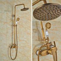 bar shower valves - Round Rain Shower Head Faucet Swivel Spout Tub Spout Valve Mixer Tap inch Shower Faucet Shower Column