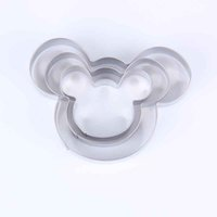 Wholesale Mickey Mouse Shape Cookie Cutter Buscuit Cake Bakeware Metal Mold Baking Tool