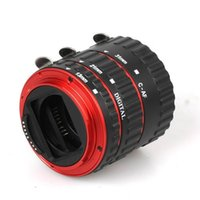 Wholesale Red Metal Mount Auto Focus AF Macro Extension Tube Ring for Canon EF S Lens T5i T4i T3i T2i D D D D D D D