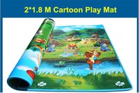 Wholesale New Arrive Doulble Site Forest And River Kids Play Mat Cartoon Child Beach Mat Picnic Carpet Baby Crawling Mat