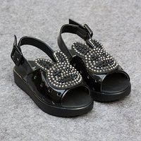 alias - New Hot Children s Sandals Summer Shoes For Girls Soft Sole Princess Shoes Dabber Rhinestone Peep Toes Sand alias