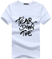 high quality t-shirt white - New Men Shirts Print Letter Black White Fashion Casual Summer Shirt Cotton T Shirts for Man High Quality men shirts Plus Size
