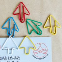 arrow paper clips - 25 MM Colorful arrow Paper clips bookmark Office supply clips tone cheap