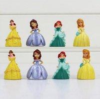 bella kids - Princess Sofia Bella Q Version Mini PVC Figure Toys The Best Gift For Kids cm set