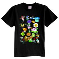 Wholesale Hot selling boys girls Plants vs zombies t shirt sunflower short sleeve t shirt autumn fashion children s clothing