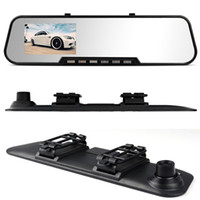 Cheap The New Car DVR Rear View Camera 820 Bats Type 4.3 Screen Rearview Mirror Vehicle Traveling Data Recorder Free Shipping