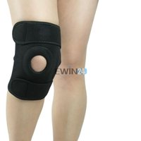Wholesale Knee Pad Knee Belt Support Flexible Elastic Stabilising Brace Fastener Strap Sport Black New Arrive