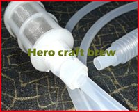 Wholesale home brew tool Hand knead siphon filter for homebrewing for wort transfer fermenter hero craft brew
