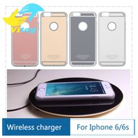 apples wireless cases - 2016 Qi Standard Wireless Charger Receiver case for Iphone plus for Apple iPhone inch Cover