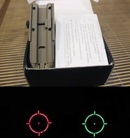 Wholesale Retail Sight Red Green Holographic sights Rifle Tactical Scope for gun mm Rail part for hunting
