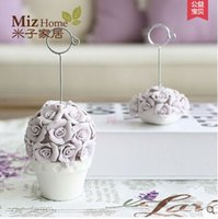 Wholesale Miz Home Sissi Series Flower Resin Memo Holder Notes Clips Holders Europe Style Office Note Storage