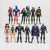 New Year aqualad young justice - 12pcs set DC Universe Young Justice SuperMan Robin Wonder woman Micron Aqualad PVC Action Figure Toys