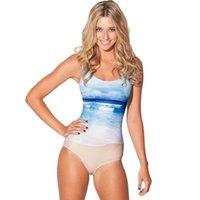 Cheap Fashion S1039 black milk Women's 3D printing Beach prints elastic summer sexy Girl swimwear swimsuit