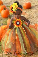 Reference Images autumn wedding outfits - 2015 Latest Fall Thanksgiving Tutu dress Autumn Tutu Dress Thanksgiving Halter Style Tutu Petticoat Thanksgiving Outfit Flower Girl Dress