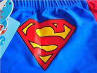 Cheap Super Hot Little Superman swimming trunks Boys swimwear Children boxer swimming trunks Delivery swimming cap
