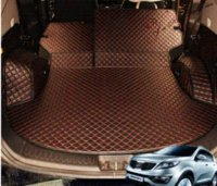 Wholesale High quality mat for KIA Sportage trunk mats durable waterproof leather mats Sportage luggage mats M50434