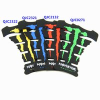 Wholesale High Quality D Rubber Motorcycle Oil Tank Decal Gas Tank Pad Protector Sticker Protector Sticker Green Red Blue Yellow Flame