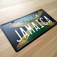 art problems - Metal Tin Signs License Plates quot NO PROBLEM JAMAICA quot Wall art craft Iron Retro metal painting x30cm Mural XD