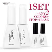 azure nail polish - Brand Azure temperature nail gel with primer top coat Salon Design nail gel polish uv gel all colors choice