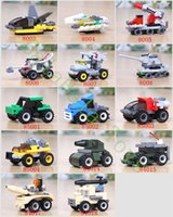 assembly model cars - 14 styles Cute D Car Truck Tank Plane Ect Assembly Model Building Blocks For Child BPA Free