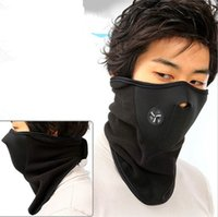 Wholesale Fleece Bicyle Cycling Motorcycle Face Mask colors Winter Sports Ski Snowboard Hood Wind Stopper Cap Headwear Thermal A179