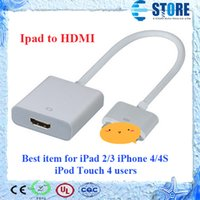 av cables ipad - Great Quality for ipad to HDMI P Dock Connector to HDMI Adapter AV Cable HDTV TV HDMI Cable Adapter for iPhone S iPad FREE DHL wu
